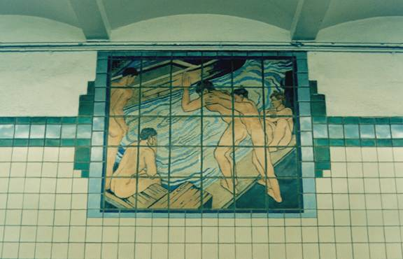 Newark City Subway - Tile Mosaic Plaque